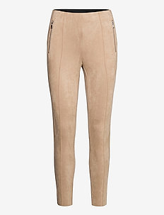 VMCAVA ZIP NW FAUX SUEDE LEGGING JRS BOO - leggings - nomad