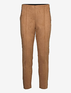VMCAVA ZIP NW FAUX SUEDE LEGGING JRS BOO - leggings - tobacco brown