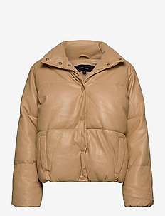VMEMILY SHORT COATED JACKET KI - dun- & vadderade jackor - tan