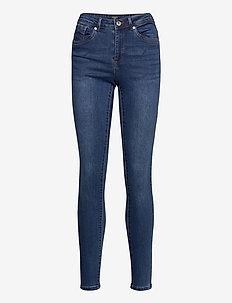 VMTANYA MR S PIPING JEANS VI369 NOOS - slim jeans - dark blue denim