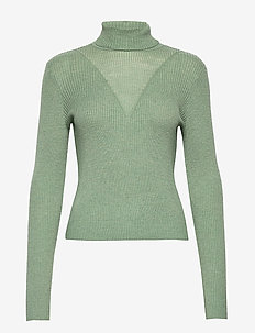 VMCUTIE LS HIGHNECK BLOUSE - golfy - hedge green