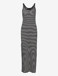 VMNANNA SL ANCLE DRESS GA COLOR - sommarklänningar - black