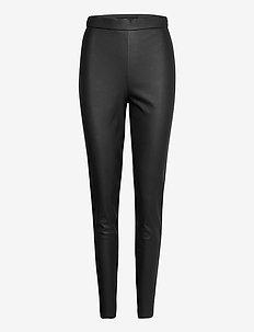 VMJANNI HW PU LEGGING NOOS - spodnie skórzane - black