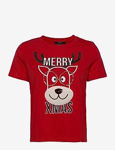 VMXMASOLLY SS TOP BOX  JRS GA - t-shirts - chinese red