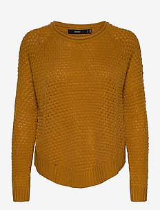 VMESME SURF LS O-NECK BLOUSE NOOS - swetry - buckthorn brown