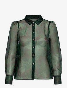 VMERIKI L/S SHIRT WVN - bluzki z długimi rękawami - black