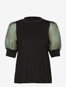 VMERIKI 2/4 TOP JRS - bluzki z krótkim rękawem - black