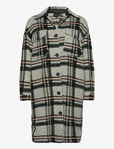 VMCHRISSIE LONG CHECK SHIRT GA - kläder - light grey melange