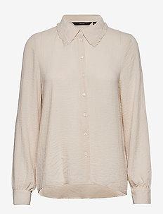 VMISABELLA LS FRILL SHIRT GA VO - blouses à manches longues - birch