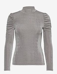 VMAMIRA LS BLOUSE GA VO - långärmade toppar - frost gray