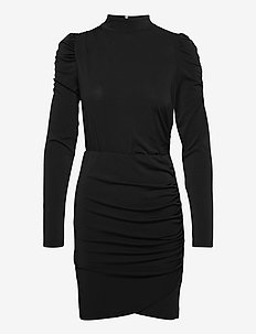 VMJAYDA LS SHORT DRESS JRS GA BOO - cocktailklänningar - black