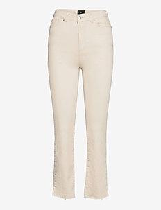 VMSTELLA HR KICK FLARE JEANS BIRCH - utsvängda jeans - birch
