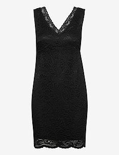 VMJANNE SL SHORT LACE DRESS JRS BOO - stramme kjoler - black