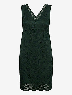 VMJANNE SL SHORT LACE DRESS JRS BOO - fodralklänningar - pine grove