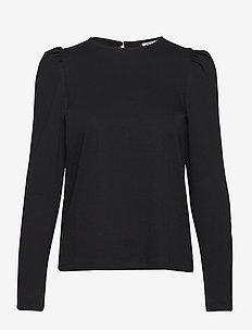 VMNOREEN LS O-NECK BLOUSE VMA - långärmade blusar - black