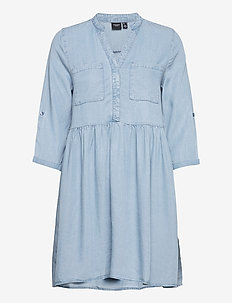 VMLIBBIE 3/4 LOOSE TUNIC GA COLOR - blousejurken - light blue denim