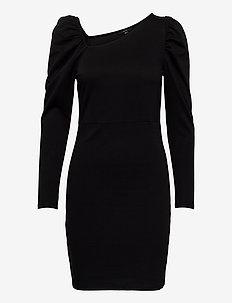 VMJOSELYN LS SHORT DRESS SE LCS JRS - fodralklänningar - black