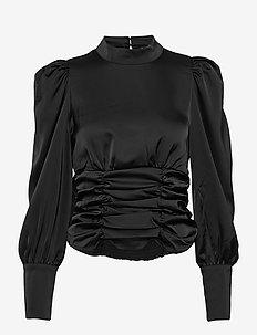 VMJUVA L/S HIGH NECK TOP WVN LCS - pitkähihaiset puserot - black