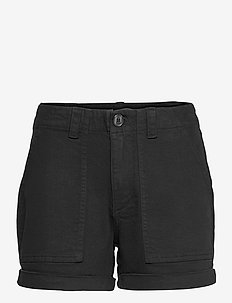 VMBARB MR UTILITY SHORTS GA COLOR - jeansshorts - black