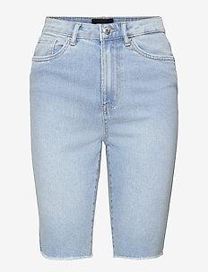 VMLOA FAITH HR L DNM SHORTS MIX GA - jeansshorts - light blue denim