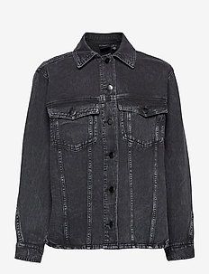 VMAMAI LS OVERSIZE SHIRT JACKET KI - jeansjackor - dark grey denim