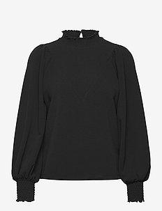 VMNOELIA LS HIGH NECK TOP JRS GA - långärmade blusar - black