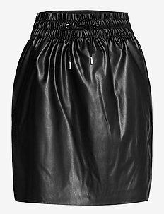 VMAVA HW SHORT COATED SKIRT - korta kjolar - black