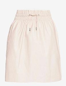VMAVA HW SHORT COATED SKIRT - korta kjolar - oatmeal