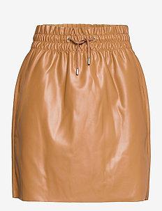 VMAVA HW SHORT COATED SKIRT - korta kjolar - tobacco brown