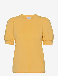 VMKERRY 2/4 O-NECK TOP  VMA COLOR - t-shirts - cornsilk