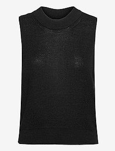 VMNEWLEXSUN SL VEST GA - stickade västar - black