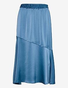 VMONNA HW CALF SKIRT VMA - midi kjolar - vintage indigo