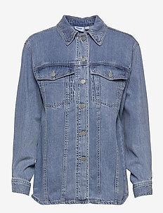 VMEMERY LS OVERSIZE DENIM SHIRT VMA - kleding - light blue denim