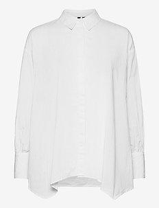 VMANDI L/S LONG SHIRT EXP - långärmade skjortor - bright white