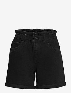 VMNINETEEN HR LOOSE PAPERBAG SHORT COLOR - shorts - black