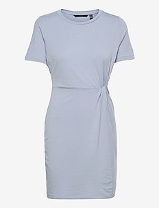 VMAVA LULU SS SHORT DRESS GA - sommarklänningar - blue fog