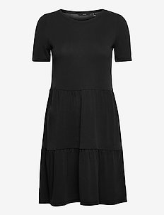 VMFILLI CALIA SS SHORT DRESS GA - sommarklänningar - black