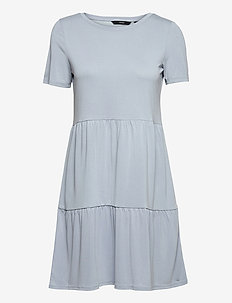 VMFILLI CALIA SS SHORT DRESS GA - sommarklänningar - blue fog
