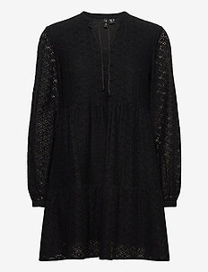 VMHENNY LACE L/S TUNIC EXP - tuniques - black