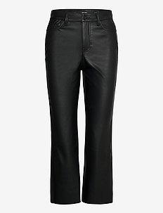 VMSTELLA HR KICK FLARE PL COATED PANT - skinnbyxor - black