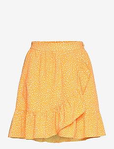 VMDICTHE SHORT WRAP SKIRT EXP GA - korta kjolar - saffron