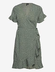 VMHENNA 2/4 WRAP FRILL DRESS - sommarklänningar - laurel wreath