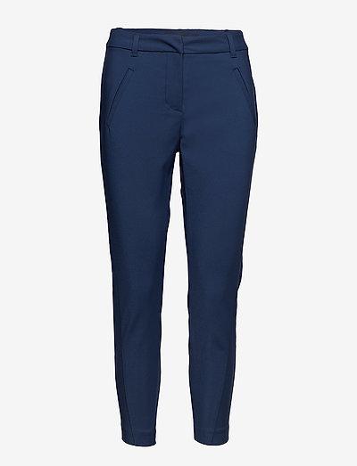 VMVICTORIA NW ANTIFIT ANKLE PANT - bukser med lige ben - navy blazer