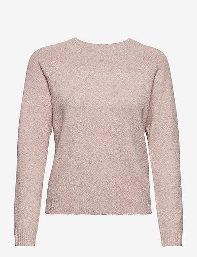 VMDOFFY LS O-NECKLOUSEA - sweaters - woodrose