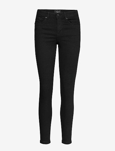 VMTANYA MR S PIPING JEANS VI120 - skinny jeans - black