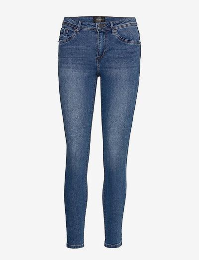 VMTANYA MR S PIPING JEANS VI349 GA - skinny jeans - medium blue denim