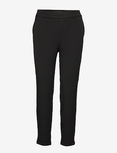 VMMAYA MR LOOSE SOLID PANT - bukser med lige ben - black