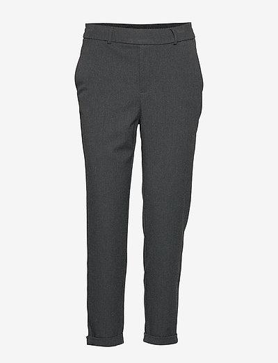 VMMAYA MR LOOSE SOLID PANT - bukser med lige ben - dark grey melange