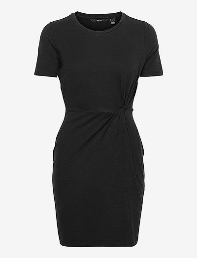 VMAVA LULU SS SHORT DRESS GA - summer dresses - black