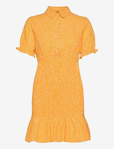 VMDICTHE S/S SHORT SMOCK DRESS EXP GA - kesämekot - saffron